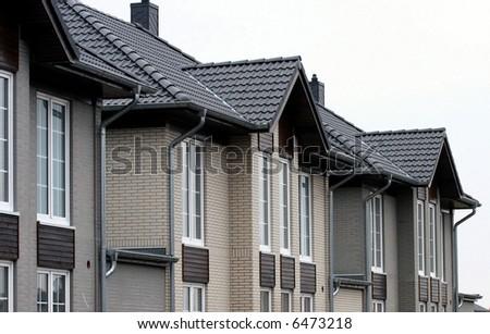 brick house - stock photo