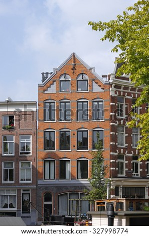 Brick house in Amsterdam