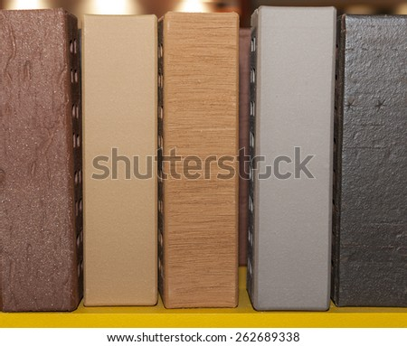 brick isolated wall background white - stock photo