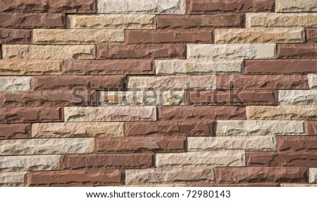 brick modern on the wall