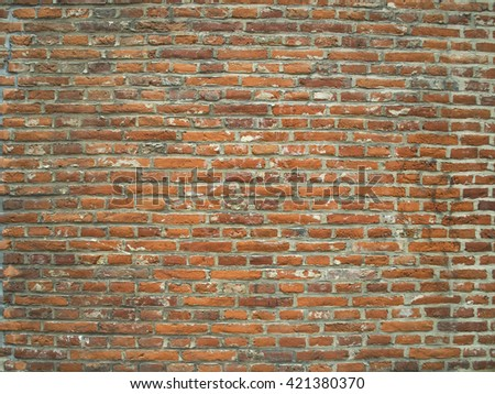 Brick old wall. Background. Vintage.