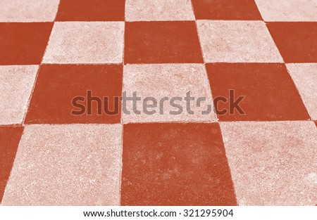 Brick pathway colorful checkered in the park - stock photo