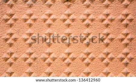 Brick pattern with a new pattern of beauty - stock photo