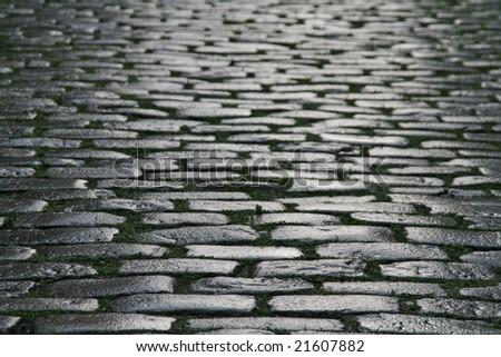brick pave backgorund - stock photo