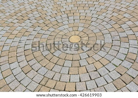 brick paving creating a beautiful background.