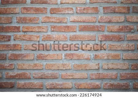 Brick red background