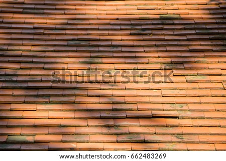 Brick Roof Texture brick roof tile tree shadow texture stock photo (royalty free