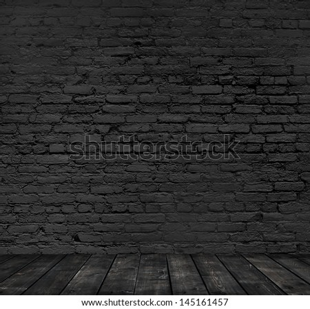 brick room background, close up