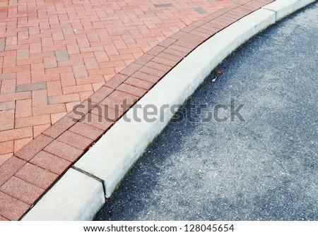 Brick Sidewalk Detail - stock photo