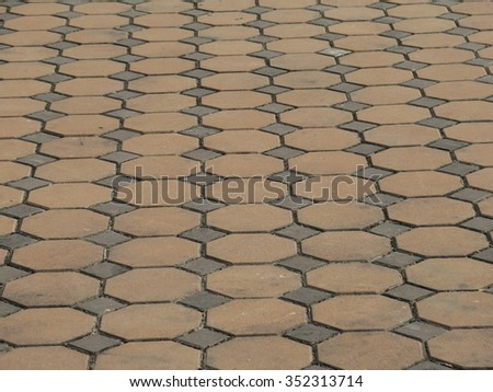 Brick stone street road pavement texture or background