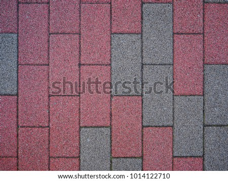 brick tile cement block color paving texture material background for walkway
