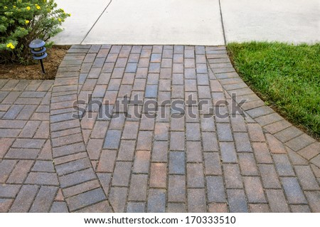 Brick Walkway - stock photo