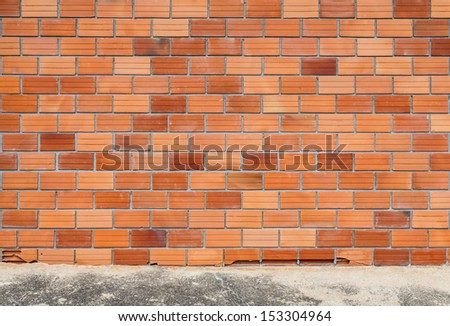 brick wall and cement floor as background