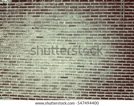 Brick wall and cement texture pattern background