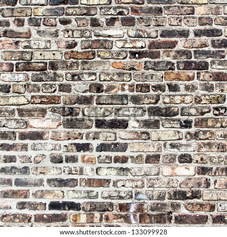 Brick Wall Background and Texture - stock photo