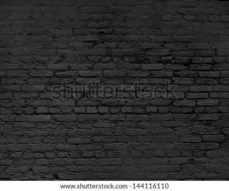 brick wall background, close up - stock photo