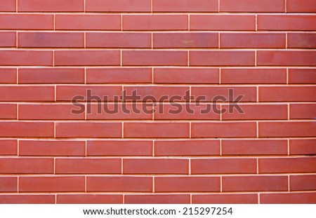 brick wall background in red color - stock photo