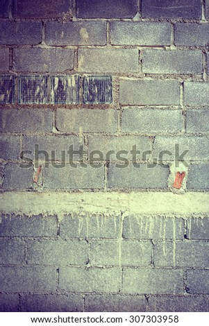 brick wall background in residential building construction site