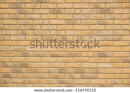 Brick wall background in UK home - stock photo