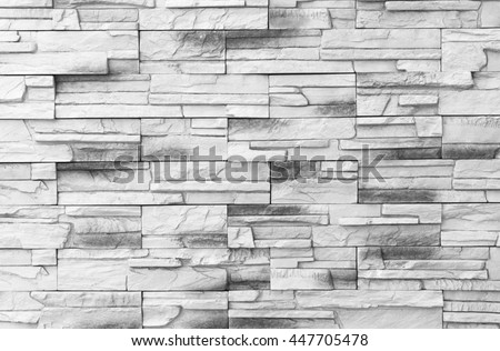 Brick wall background / Old gray Bricks Wall Pattern brick wall texture or brick wall background on day noon light for interior or exterior brick wall building and brick wall decoration texture. - stock photo