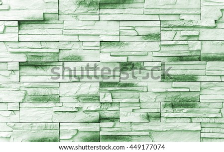 Brick wall background / Old green Bricks Wall Pattern brick wall texture or brick wall background on day noon light for interior or exterior brick wall building and brick wall decoration texture. - stock photo