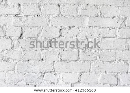 Brick wall background, painted in white.