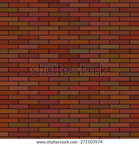Brick Wall Background. Red Brick Texture Brick Pattern. - stock photo
