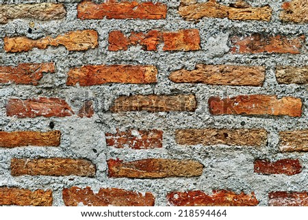 brick wall background - texture  - stock photo