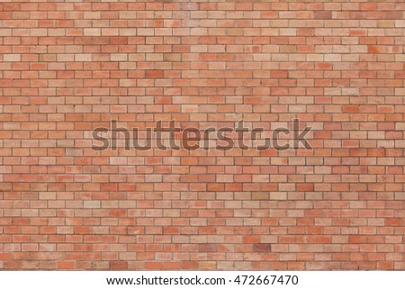 Brick wall. Background texture. Frontal view.