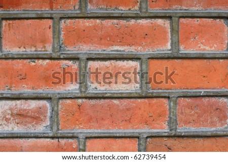 brick wall close up - stock photo