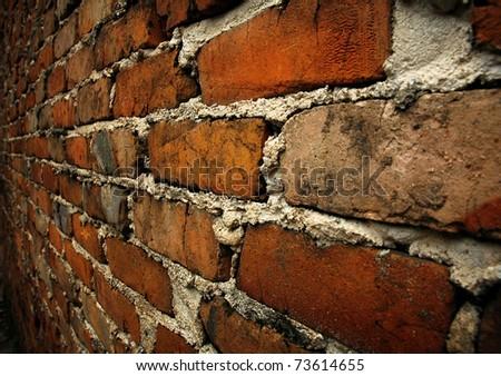 brick wall close-up - stock photo