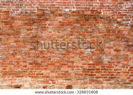 brick wall close up background