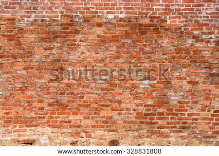 brick wall close up background - stock photo
