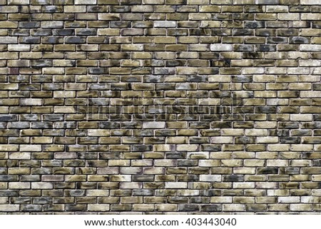 Brick Wall; colorful brick wall background/texture; overlay with graffiti or signs  - stock photo