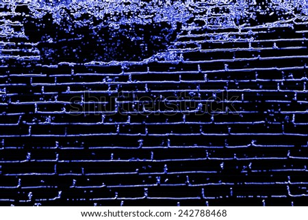 Brick wall effect black background - stock photo