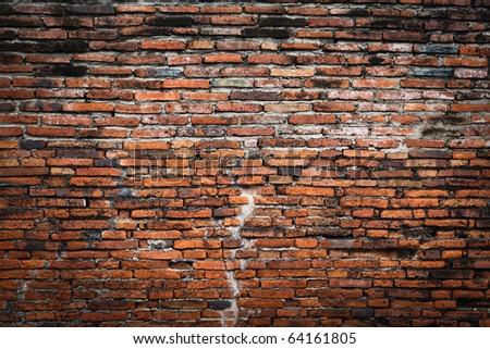 brick wall fragment - stock photo