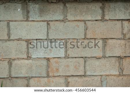 Brick wall, Gray brick wall, background and texture. - stock photo