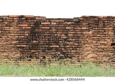 brick wall horizontal endless seamless pattern - stock photo