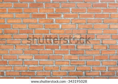 Brick wall horizontal texture pattern for background.