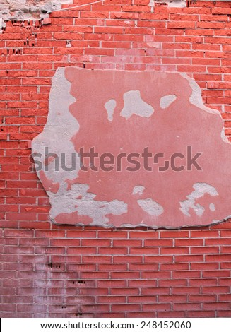 Brick wall in Venice  - stock photo