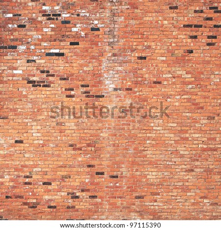 Brick wall old and dirty - stock photo