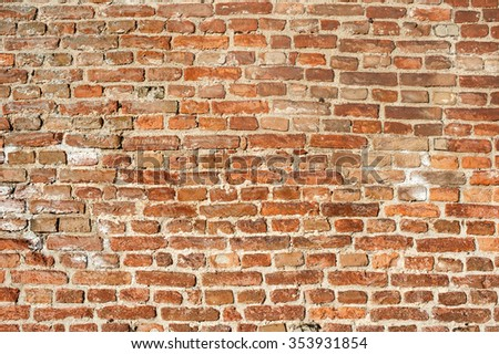 Brick wall. Old brick wall texture background