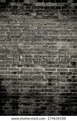 Brick wall pattern. - stock photo