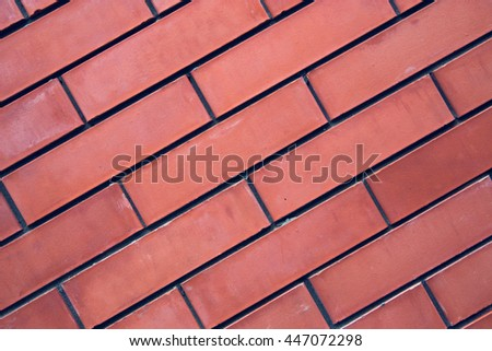 brick wall, red, diagonal, texture