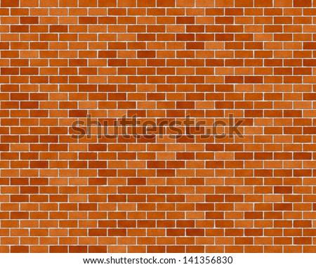brick wall seamless illustration background - texture - stock photo