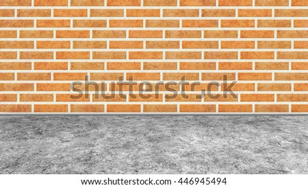 brick wall texture background and floor