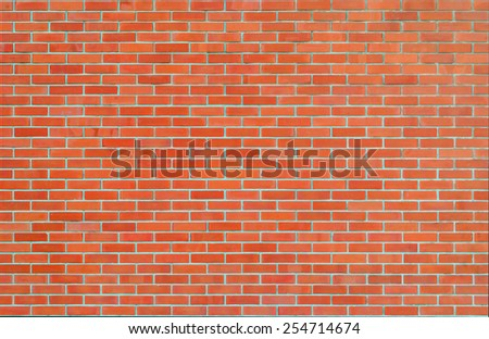 Brick wall texture background in red tone  - stock photo