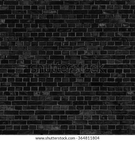 brick wall texture black background - stock photo