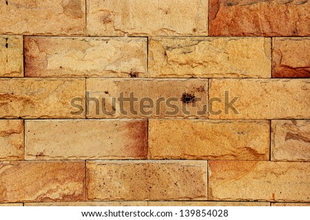 Brick Wall Texture/Brick wall with some bricks lighter colored. Texture and background Horizontal - stock photo