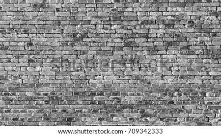 brick wall texture grunge background, black and white background